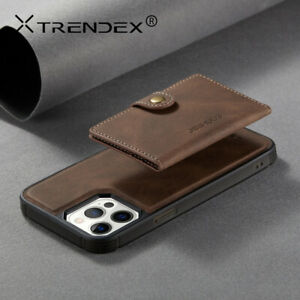 For iPhone 12 11 Pro Xs Max 8 Genuine JH Magnetic Leather Wallet Card Case Cover
