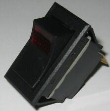 Carling Tech Ltila51 Illuminated Rocker Spst Switch 125v 15a 24v Red Light