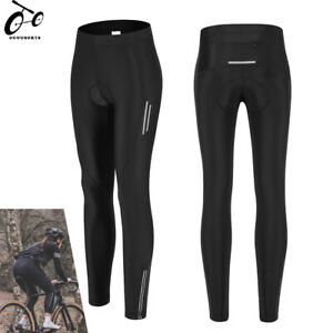 Women's Compression Cycling Tights Padded Cycle Leggings Long Pants Sports Wear