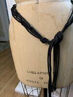 Vintage Black Rope Belt