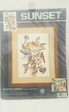 "Dimensions SUNSET Counted Cross Stitch Kit Feasting Frenzy 10"" x 14"" #13683 Seal"