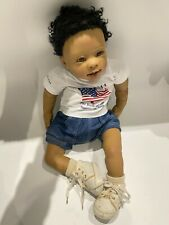 """RARE Vintage AD Truly Real Baby """"Obama, Birth of Hope"""", by Linda Murray, + COA"""