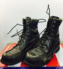 Vintage Women's Browning Boots Outdoor Motorcycle Rocker Punk Boho Black 70S 80S