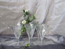 Beautiful stemmed cocktail flutes 3 -d leaves DESIGN  set of six LOT GA -A-2