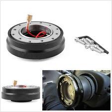 Portable Black Autos Quick Release Adapter Steering Wheel Hub Boss Kit Universal