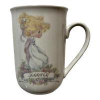 Vintage Enesco Precious Moment Jennifer Ceramic Mug Personalized Girl Woman Name