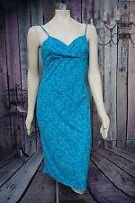 La Belle Floral Blue Spaghetti Strap Dress