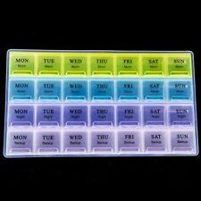 Medicine Storage Organizer Weekly 28 Days Tablet Pill Box Holder Case Container