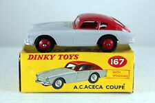 Dinky Toys A.C.Aceca Coupe Number 167-G 89mm 1958-1963 NM in VGOB