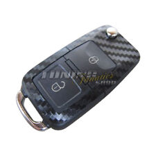 Schlüssel Carbon Design Dekor Folie Aufkleber Sticker Schwarz 2er VW Seat Skoda