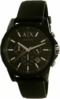 Armani Exchange Men's AX1326 Black Silicone Japanese Quartz Dress Watch