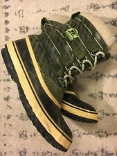 Sorel 1964 Pac Snowboots Waterproof Womens Sz 40 Green Black Suede Well Loved B1