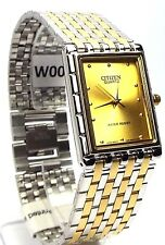 New Citizen Man, Two-tone, Analog Quartz, Gold-dial  Dress Watch