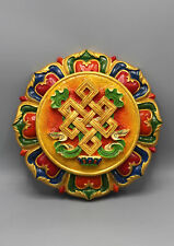 Auspicious Symbol Endless Knot Clay Wall Hanging From Nepal