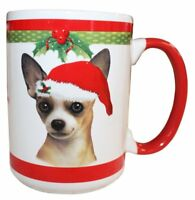 Chihuahua Tan Christmas Coffee Mug 15 oz E&S Pets Dog Puppy Tea Cup Holiday