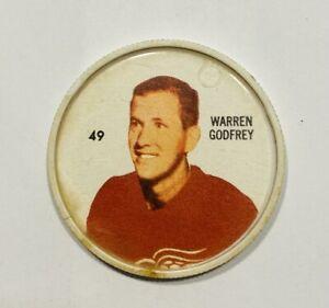 SHIRRIFF Hockey Coins WARREN GODFREY Coin #49  Detroit Red Wings