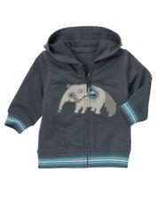 NWT Gymboree Boys Anteater Pals Blue Zipper Zipper Hoodie Size 0-3 M