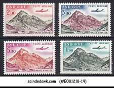 ANDORRA - 1964 AIR MAIL STAMPS - 4V - MINT NH