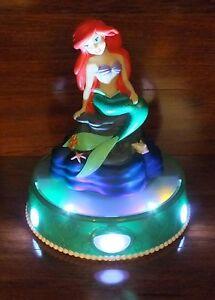 Disney Peach-Tree Playthings Ariel Little Mermaid Light Up Talking Musical Bank!