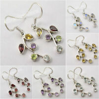 925 Sterling Silver PLANT LEAF Earrings ! Made In India Handmade Jewelry NEW
