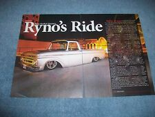 "1961 Ford F-100 Unibody Pickup Article ""Ryno's Ride"" F100"