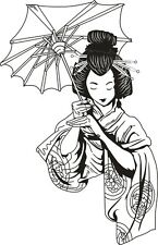 Japanese Geisha Vinyl Decal