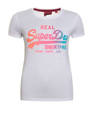 Superdry Shirt Ladies T-shirt O-neck Print G10020xo White Women S