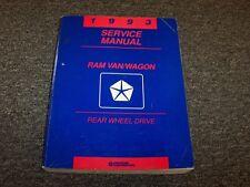 1993 Dodge Ram Van & Wagon Shop Service Repair Manual B150 B250 B350 3.9L 5.2L