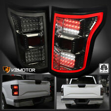 Smoked 2015-2017 Ford F150 Rear Brake Full LED Tail Lights w/LED Daytime Tube