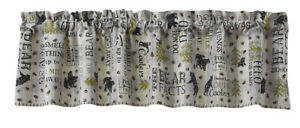 """1 Bear Facts Rustic Country Farmhouse Cotton Lined Valance 60"""" x 14"""""""