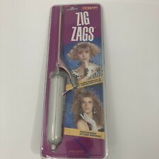 Vintage Conair Zig Zags Crimping Iron Styling Tool CD55CS 1980's Factory Sealed