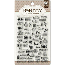 BoBunny PLANNER ICONS (58) CLEAR ACRYLIC STAMPS scrapbooking