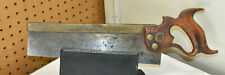 """L107- Antique 1880s 12"""" HENRY DISSTON & SONS BRASS BACK SAW"""