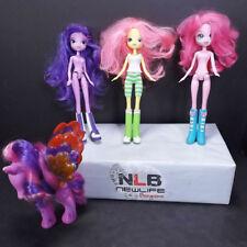 My Little Pony Equestria Dolls Pinkue Pie, Fluttershy, Twilight & Unicorn Pony