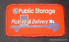 "PUBLIC STORAGE PICK UP DELIVERY PRINTED PATCH ADVERTISING 4 1/2"" x 2 1/2"""