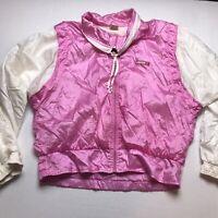 Ellesse Made In Italy Vintage Pink Windbreaker Jacket Size Medium A547