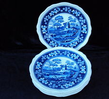 "***  Spode ""Blue Tower"" - 6 Speiseteller Ø 27 cm ***"