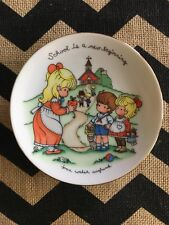 School is a new beginning Joan Walsh Anglund 1986 Avon Collectible Plate 5& 00006000 #034;