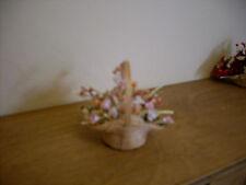 Dollshouse miniature ~ PEACH & CREAM ~ Flowers in Basket