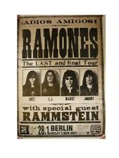 Ramones Poster Final Tour Head Shots Concert The