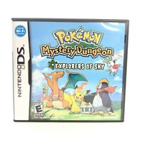 Pokemon Mystery Dungeon: Explorers of Sky (DS, 2009) - CIB / Authentic / TESTED!