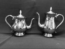 VINTAGE GORHAM NEWPORT SILVERPLATE 2 PC COFFEE POT AND MATCHING TEAPOT SET