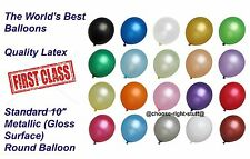 "1-100 Pcs Helium Pearlised Plain Balloons 10"" Wedding Birthday Party Christening"