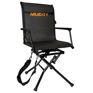 Muddy MGS400 Flex Tek Swivel-Ease Portable Ground Camping & Hunting Seat, Black