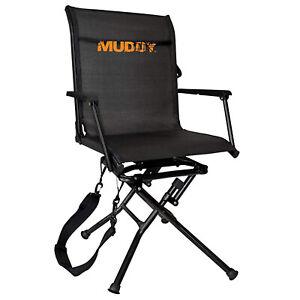 Muddy MGS400 Flex Tek Swivel-Ease Portable Ground Camping & Hunting Seat, Black