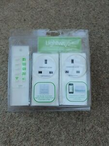 Lightwave LW301WH Connect Series Dimmable Plug-in with remote, white.