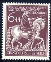 1945 Germany Nazi Third Reich Swastika Deutsch SC#B290 SP247 MLH OG