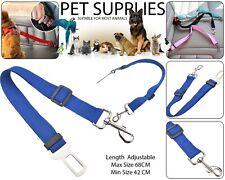 Pet Dog Car Seat Belt Safety Ajustable Harnesses Lead Restraint Clip Leash Bleu