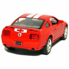 "New 5"" Kinsmart 2006 Ford Mustang GT Stripes diecast model toy car 1:38 Red"