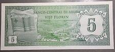 ARUBA 1986 5 Florin P-1   BANCO CENTRAL DI ARUBA VIJF FLORIN  B